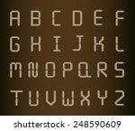 silver metal letters  | Shutterstock .eps vector #248590609