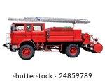 red fire truck   Shutterstock . vector #24859789