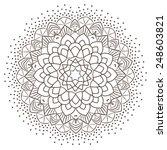 ethnic fractal mandala vector... | Shutterstock .eps vector #248603821