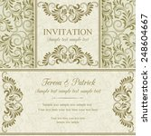 antique baroque invitation ... | Shutterstock .eps vector #248604667