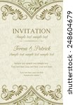 antique baroque invitation... | Shutterstock .eps vector #248604679