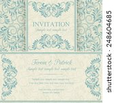 antique baroque invitation ... | Shutterstock .eps vector #248604685
