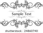 elegant texts frames. | Shutterstock .eps vector #24860740