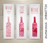 set of art wine banners and... | Shutterstock .eps vector #248607724