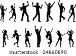 vector silhouettes of dancing... | Shutterstock .eps vector #24860890