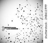 beautiful molecular structure | Shutterstock .eps vector #248611999