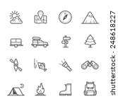 camping icons | Shutterstock .eps vector #248618227