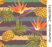 tropical exotic flowers and... | Shutterstock .eps vector #248618251