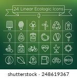 linear ecological vector icons...