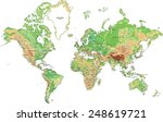 highly detailed world map with... | Shutterstock .eps vector #248619721