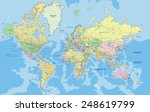 highly detailed political world ... | Shutterstock .eps vector #248619799