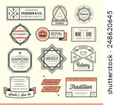 set of vintage logos  badges... | Shutterstock .eps vector #248620645