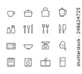 kitchen icons | Shutterstock .eps vector #248624725