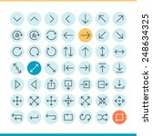 set of thin line arrow icons ...