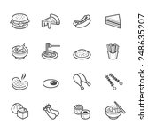 food icons | Shutterstock .eps vector #248635207