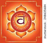 svadhishthana. decorative...   Shutterstock .eps vector #248635684