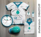 white promotional souvenirs... | Shutterstock .eps vector #248639149