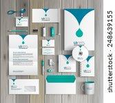 white corporate identity... | Shutterstock .eps vector #248639155