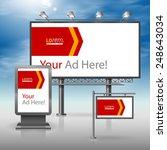 white outdoor advertising... | Shutterstock .eps vector #248643034