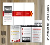white brochure template design... | Shutterstock .eps vector #248643091