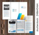 white brochure template design... | Shutterstock .eps vector #248645464