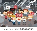 demonstrator concept   freehand ... | Shutterstock .eps vector #248646355