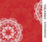 mandala abstract design element.... | Shutterstock .eps vector #248647801