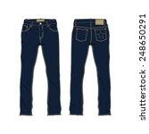 men denim jeans vector template | Shutterstock .eps vector #248650291