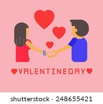 valentines day couple   vector... | Shutterstock .eps vector #248655421