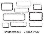 set of empty grunge stamp ... | Shutterstock .eps vector #248656939
