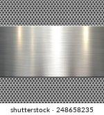 background  polished metal... | Shutterstock .eps vector #248658235