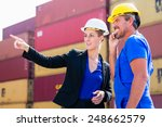 freight shipping at container... | Shutterstock . vector #248662579