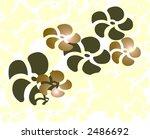 Funky chocolate flower hawaiian theme design - stock photo