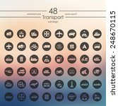 set of transport icons | Shutterstock .eps vector #248670115