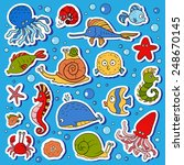 Set Of Vector Ocean Animals ...