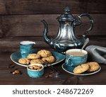 Black Coffee In Blue Vintage...