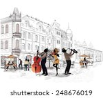 series of the streets with... | Shutterstock .eps vector #248676019