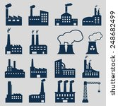 factory icons | Shutterstock .eps vector #248682499