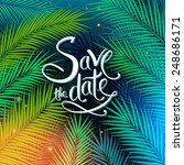 colorful save the date card... | Shutterstock .eps vector #248686171