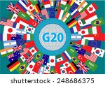 g20 countries flags or flags of ... | Shutterstock .eps vector #248686375