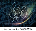 human geometry series. artistic ... | Shutterstock . vector #248686714