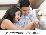 portrait of couple planning...   Shutterstock . vector #24868828