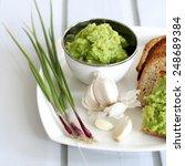 homemade garlic pesto | Shutterstock . vector #248689384