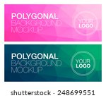 horizontal polygonal banners | Shutterstock .eps vector #248699551