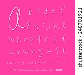 alphabet and numbers   hand... | Shutterstock .eps vector #248701921