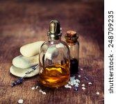 massage oil and zen stones.... | Shutterstock . vector #248709235