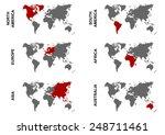 each world continent boundary...   Shutterstock .eps vector #248711461