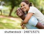cheerful black woman enjoying... | Shutterstock . vector #248715271