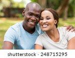 portrait of african couple...   Shutterstock . vector #248715295