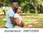 cute young african couple... | Shutterstock . vector #248715304